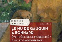 Expo Le Nu de Gauguin à Bonnard / Cet été, le musée Bonnard présente une exposition inédite sur la portée symbolique, voire iconique du nu dans l'histoire de l'art de 1880 à 1950 environ, à travers des œuvres de Gauguin à Bonnard. L'exposition présente près de soixante-dix oeuvres symbolistes, nabis, fauves, cubistes et surréalistes de Gauguin, Bonnard, Rodin, Sérusier, Denis, Redon, Matisse, Dufy, Picasso, Le Douanier Rousseau, Arp, Giacometti et Chagall...