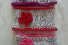 Loom knit ear warmers