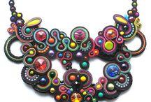 Soutache necklace selection