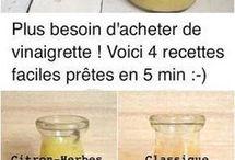 4 vinaigrette fait en 5 mn