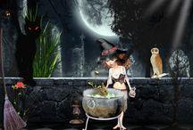 La sorcière et le chaudron magique