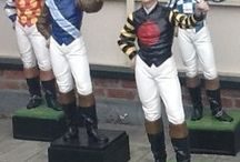 A Saratoga Tradition / Iconic custom painted lawn Jockeys