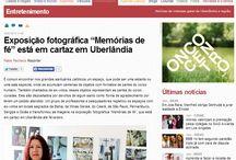 Exposição Memórias de Fé / O jornal Correio de Uberlândia, divulgou a matéria feita sobre a Exposição Memórias de Fé, organizada e coordenada pela Phd e coordenadora do NUPPE ( Núcleo de Pesquisa em Pintura e Ensino) vinculado ao Instituto de Artes da UFU, Aninha Duarte, que também é membro do GREC e NPE.