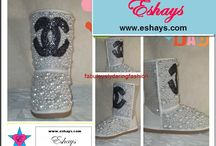 Custom Boots / Most of the boots listed are custom made. At Eshays, LLC you can request any design and we will bring it to life! Popular Glitter Timberland Boots