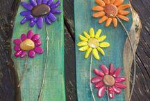 flores em pedra