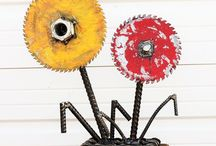 Raymond Guest Scrap Metal Artist / Raymond Guest whimsical garden art and furniture maker at Recycled Salvage Design combining salvaged found objects to create unique pieces of art see more at https://www.flickr.com/gp/recycledsalvagedesign