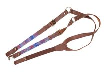 Leather suspenders / leather suspenders hand made