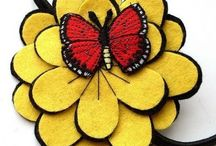 Felt flowers - Цветы из фетра / Sewing, flowers, decoration - Шитье, цветы, украшения