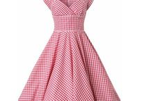 Vintage 50's style dress / Full skirt polkadot and floral dresses