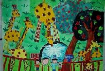 детские рисунки Животные