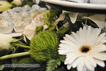 Utah Wedding Flowers - Joseph Smith Memorial Building / A timeless color combination that throws in feathers for an antique flair.  Tall and magnificent presentation pieces adorn the buffet tables and an exquisite spray is used on the bride and groom's table.