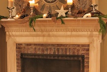 Heat of the moment! / Fireplace mantle decorations / by Shelley Corpuz-Kuhn