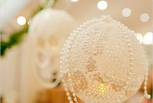 Lace And Pearls / We Love Beautiful Lace Combined With Pearl Accents For It's Classic, Elegant and Timeless Style.