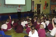 """All Saints Academy School Author Visit Jack Trelawny / Free school visit to All Saints Academy (formerly James Bradfield Primary) PE33 9QJ. Photos show a typical visit with 'laugh while you learn' slideshow presentation, then questions and answers, followed by a """"Meet the Author' book-signing session. Bookings: info@campionpublishing.com"""