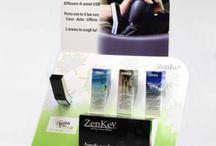Sinergie di Oli essenziali e Profumazioni per Zenkey / Sinergie di oli essenziali Gisa Wellness 100% puri e naturali per Zenkey diffusore ad ultrasuoni USB.
