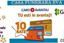 CASA FUNERARA EVA / In perioada de criză şi înmormântările au devenit un lux. CASA FUNERARA EVA SRL -D vine în sprijinul clienţilor  oferindu-le posibilitatea de a achita servicii in maxim 10 rate fixe fara dobanda. Societatea nostra are program non-stop iar produsele se pot achizitiona si online pe site.