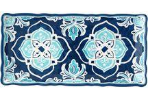 Le Cadeaux / Le Cadeaux melamine, glassware, and linens available at www.touchofeurope.net