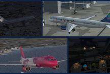 FSX - Airbus + Cessna / My FSX Flightsimulator flights