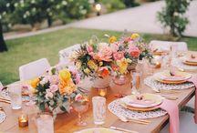 Tables vintage couleur