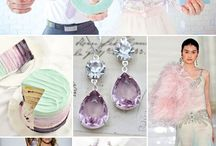 Pale Pink, Mint & Lavender / Pale pink, mint and lavender wedding theme with natural confetti ideas from The confetti cone company www.confetti-cones.co.uk