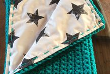 Sew blankets with needles