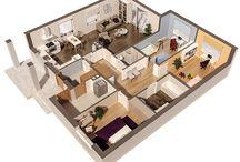 Aksonometria / Propozycje aranżacji rzutów naszych projektów domów