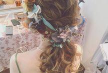 髪型 ドレス
