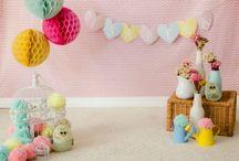 Ensaios com bebês / Cenários, scraps, flores