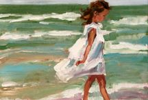 Painting at the sea side / Painting