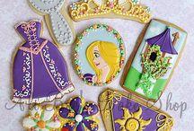 Rapunzel / cakes, cupcakes, desert tables