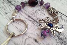 Beads keyrings