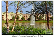 Disney's Saratoga Springs Resort & Spa / This peaceful country retreat pays homage to the historic spas and pampering atmosphere of America's first grand resort destination in upstate New York. Relax and rejuvenate among dazzling fountains and lush gardens or spend the day pampering yourself at the on-site spa and fitness center. When you're ready for some action, it's just a short walk to Downtown Disney where you can enjoy the shopping, dining and entertainment.