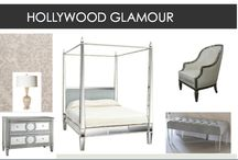Mood boards for bedrooms. / Different themed bedroom design concepts.