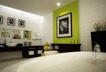 My Bath Room / Looking to do my master bathroom over. Black, white and green.