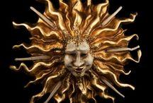 Soleil et Lune-Masque Venise