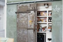 Interior / old sliding door