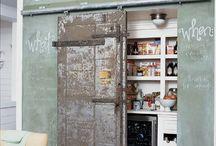 Interior / old sliding door