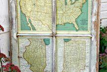 ParMar Map Home Decor Ideas / Home decor using Maps as wall art and much more. Par-Mar.net