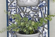 Pendentes em mosaico para plantas