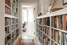 Hall with books