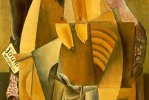 PABLO PICASSO Synthetic Cubism(1912-1914) / Pablo Ruiz y Picasso (1881-1973),was Spanish painter,printmaker,sculptor,ceramicist,stage designer,poet..One of the greatest and most influential artists of the 20th century.His most famous period are the Blue(1901-1904),the Rose(1904-1906),the African(1907-1909),Analytic Cubism(1909-1912),Synthetic Cubism(1912-1914),Orfizmus-the period came to a complete abstraction.After 1923-was influenced by Cubism,Surrealism.