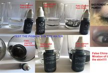 Permanent Makeup  test pigments,  migration pigment in the skin