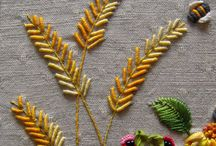 Bullion stitch ear of wheat