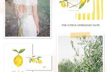 Yellow-Lemon poligraphy