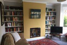 Little Greene - Mortlake Yellow Living Room / 1930s living room revamp.