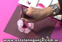 Pintura acrílica flores