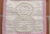 Lavettes, lavettes sur bâton / lavettes tricot ou crochet 100% coton lavettes sur bâton tricotées avec du fil à tisser