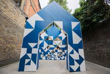 Clerkenwell Design Week 2017 / For the second year in a row, Hakwood participated in Clerkenwell Design Week. This time, we sponsor Double Vision, a 4 meter high structural installation with recursive patterns, nestled within the historic Clerkenwell Close.