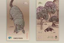 Bank notes illustration