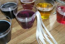 Dying silk ribbons